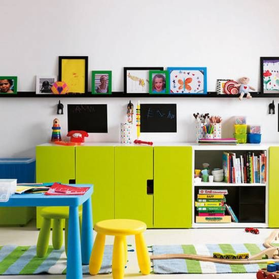 I really like the continuous shelf! Children\u0027s Room Pinterest