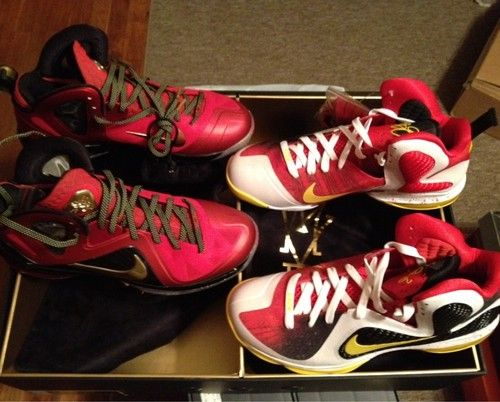 designer fashion f7c00 50da0 Nike Lebron 9 MVP   Championship Pack Rare Sample Promo Heat sz 11  5k