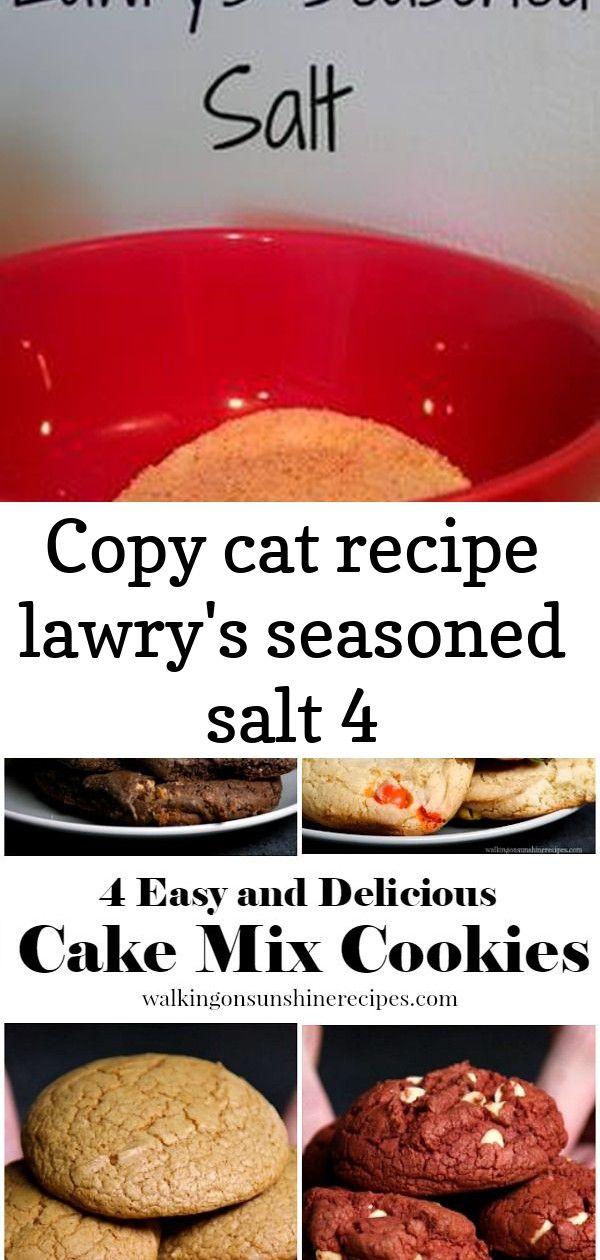 Copy cat recipe lawry's seasoned salt 4 Recipes, Easy