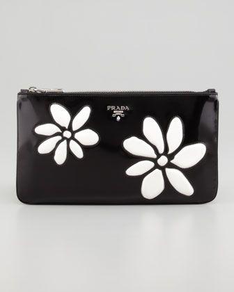 30736a1195ef Prada flower clutch, | It's in the bag | Prada clutch, Prada, Prada ...