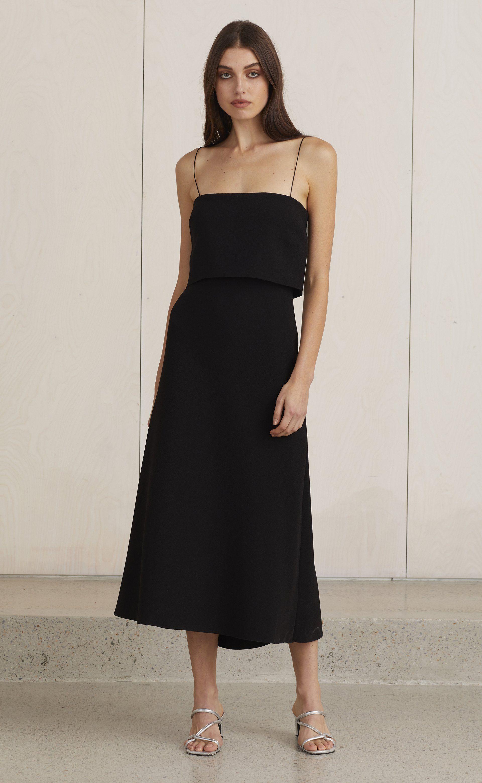 Araia Midi Dress Black Bec Bridge Dresses Black Midi Dress Midi Dress [ 3121 x 1920 Pixel ]