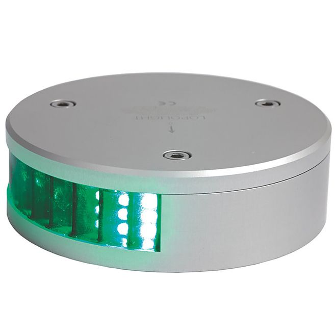 Lopolight Green Starboard LED Navigation Light - 2nm - Round f/Vessels 39-164' [300-008]