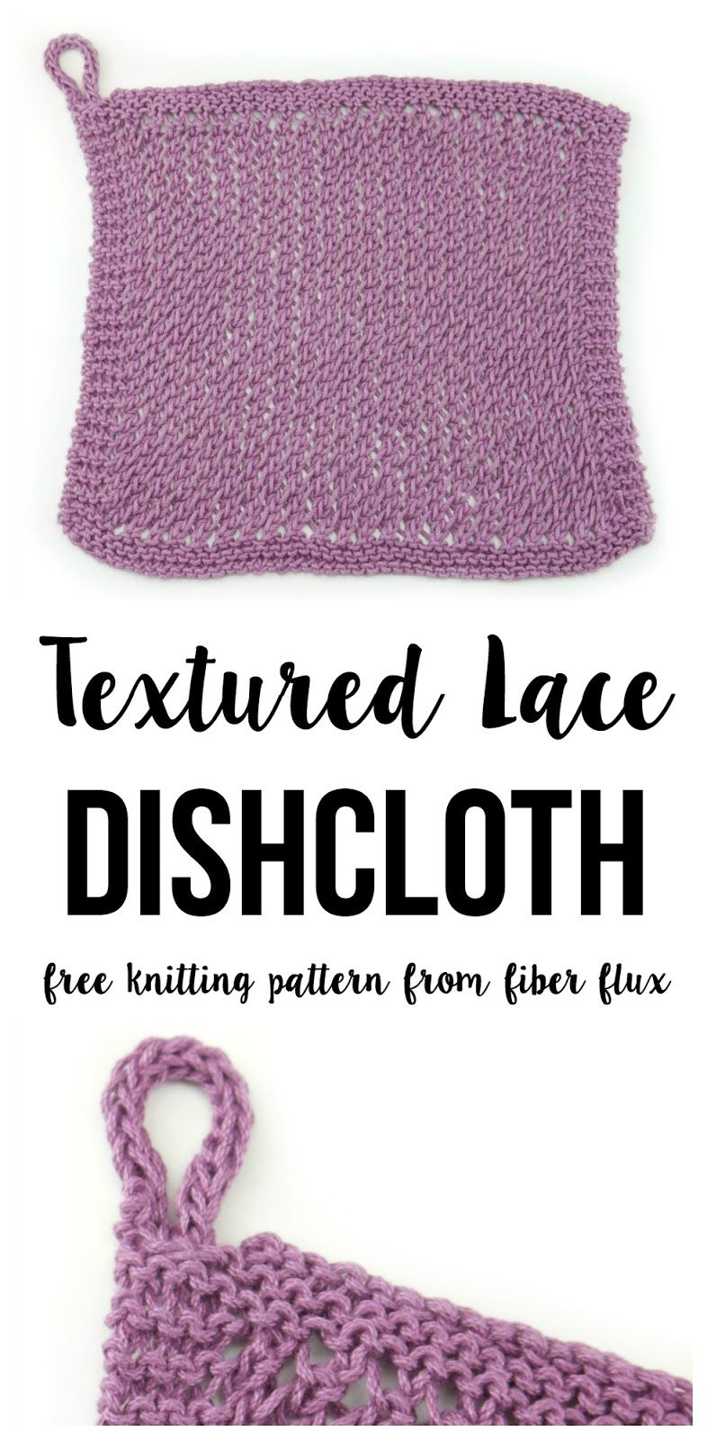 Free Knitting Pattern...Textured Lace Dishcloth! | Easy knitting ...