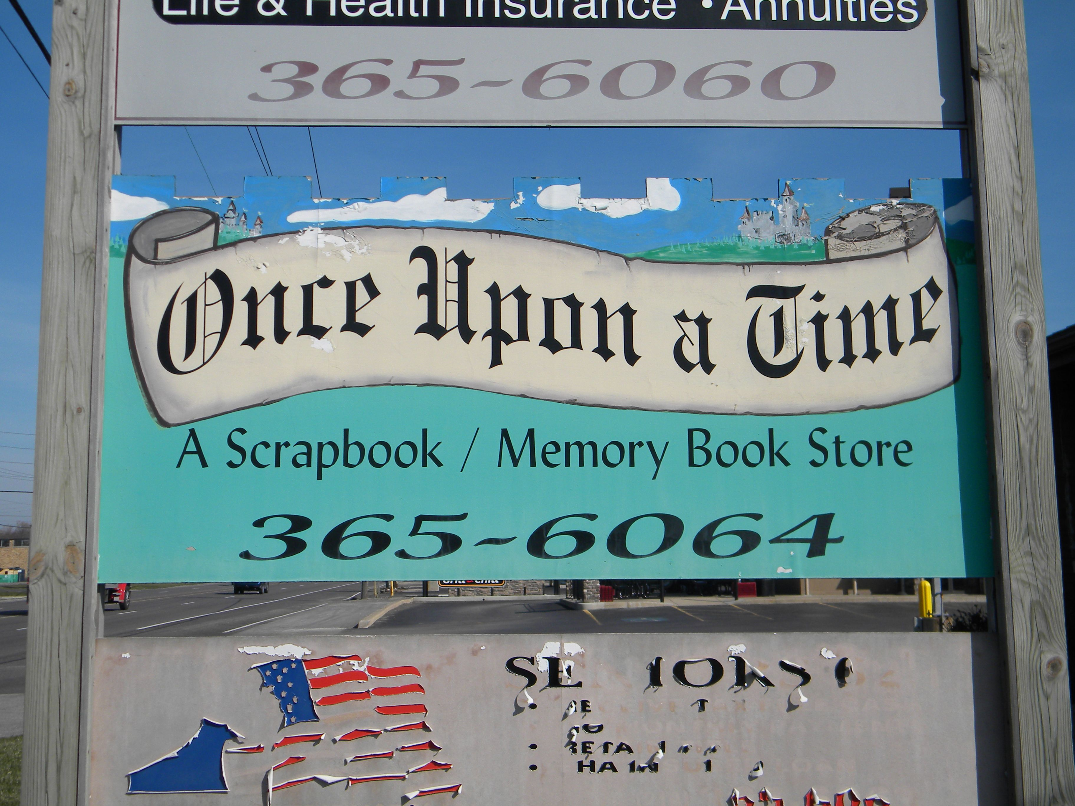 Once Upon A Time Scrapbook Store St John In Scrapbook Store Scrapbook Novelty Sign