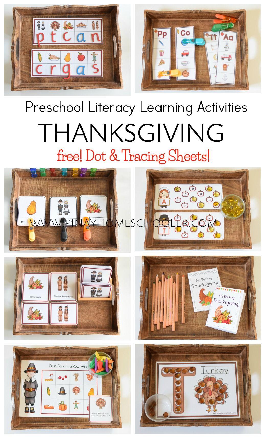 Thanksgiving Preschool Literacy Learning Pack