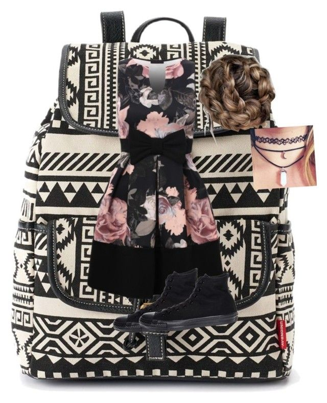 """""""Cute First Day"""" by weshallriseforevermore ❤ liked on Polyvore featuring UNIONBAY and Converse"""