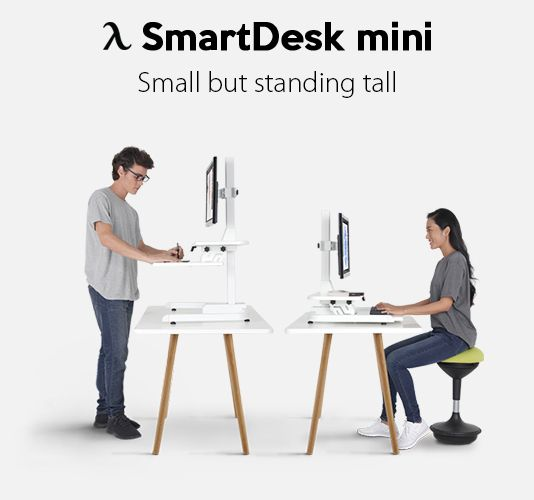 Smartdesk Mini Table Top Standing Desk Autonomous Smart Office