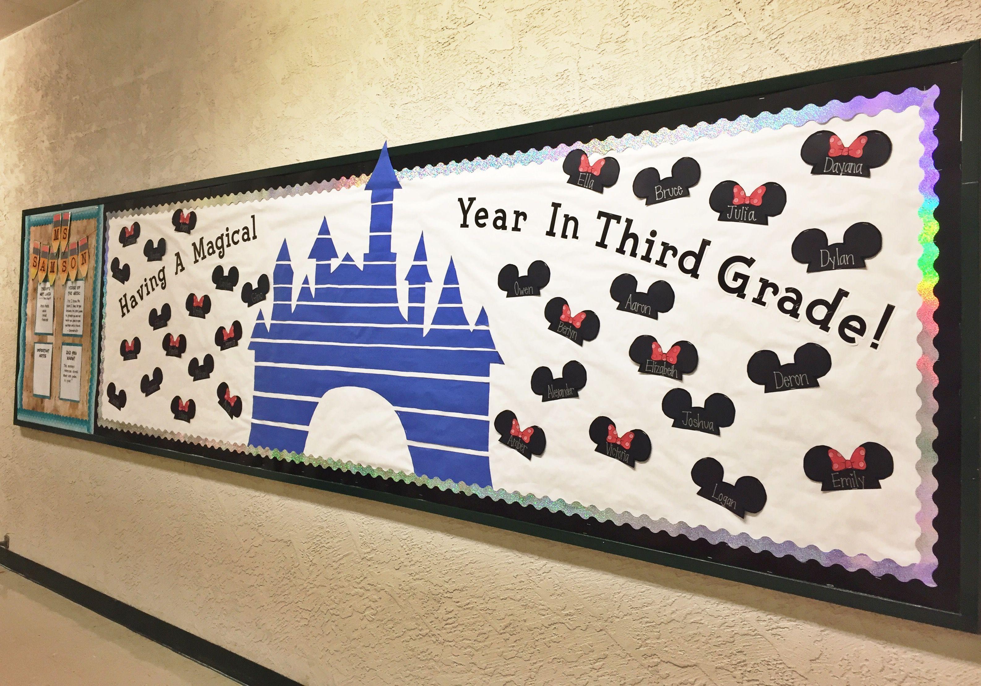 Disney Bulletin Board First Day Of School