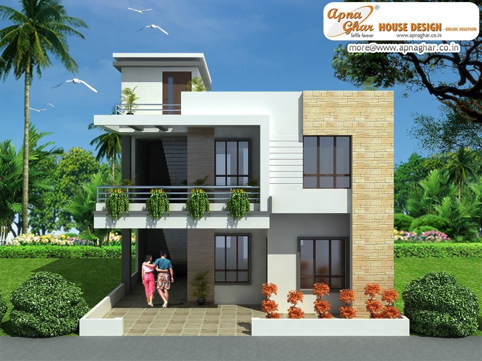 Duplex 2 Floor House Design Click On This Link Http Www Apnaghar Co In House Design 363 Aspx Duplex House Design Modern House Exterior Duplex House Plans