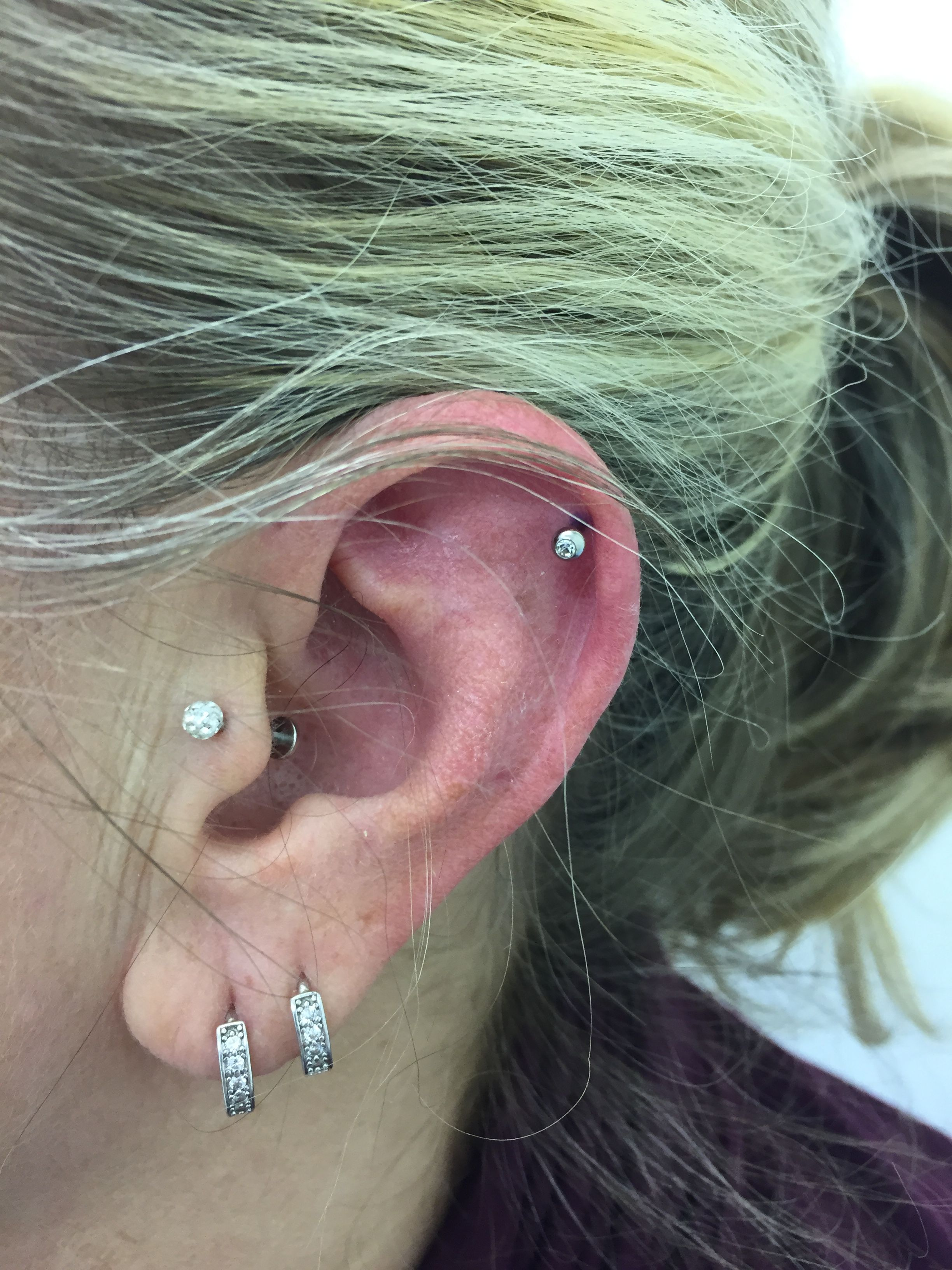 Nose piercing gone wrong  Helix by me  Girls who pierce  Pinterest  Piercing