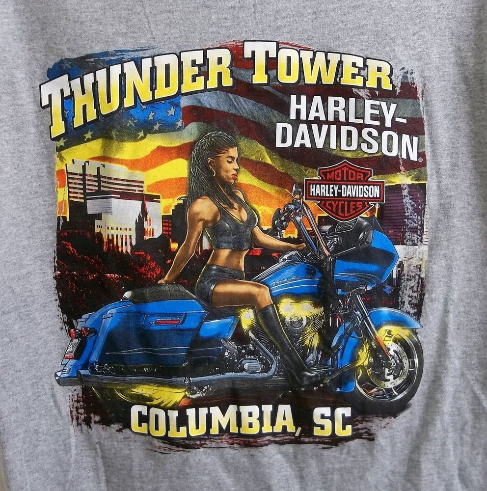 Thunder Tower Harley Davidson Motorcycles T Shirt Xl X Large