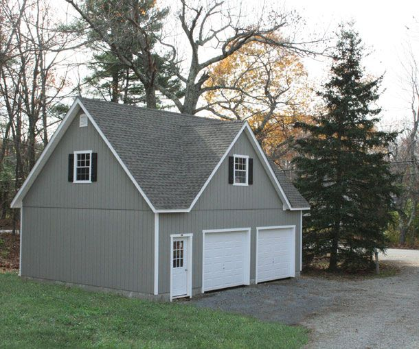 24 X 30 Elite Cape Garage With T 1 11 Siding And A Extra Gable House Paint Exterior Garage Apartment Plans House Designs Exterior