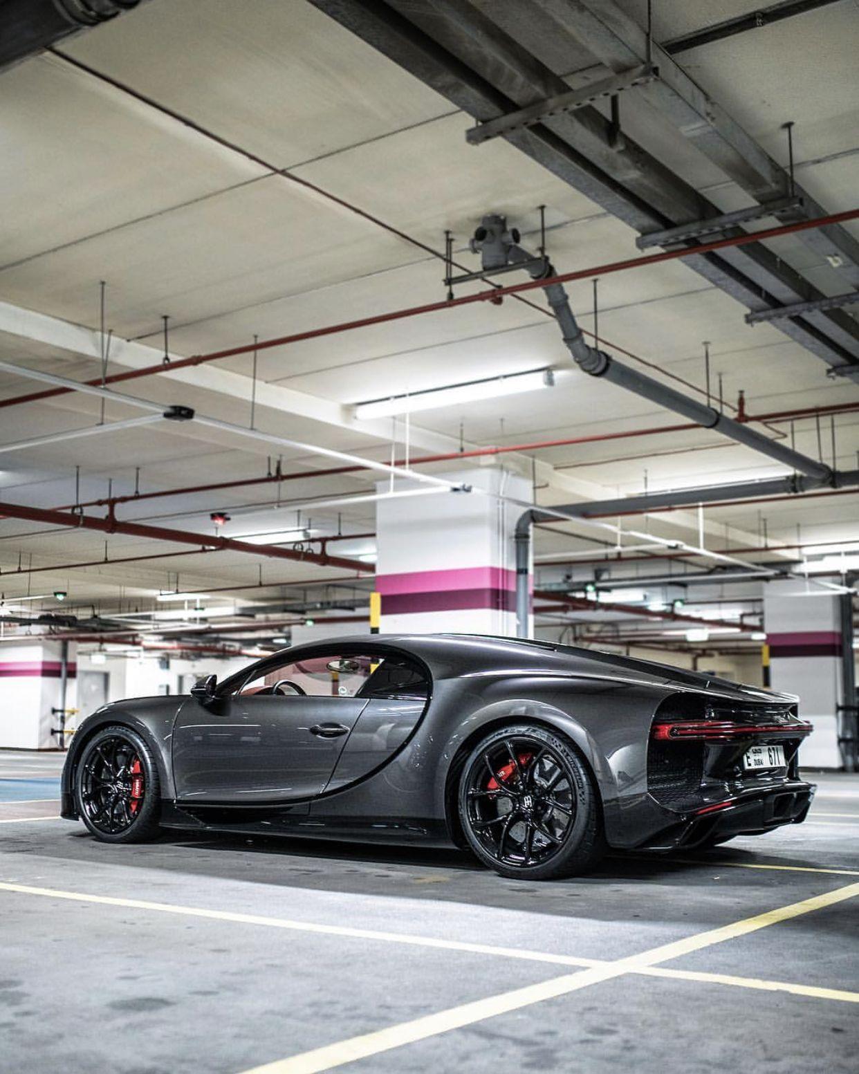Bugatti Chiron Painted In Dark Gray W Black Accents Photo Taken