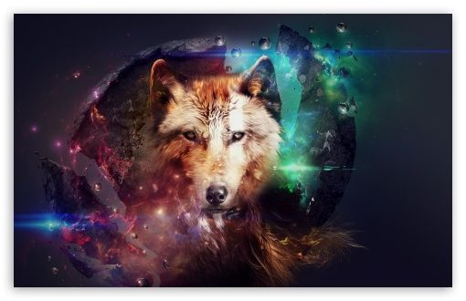 Magic Wolf Hd Desktop Wallpaper High Definition Fullscreen Mobile Abstract Wolf Wolf Background Wolf Wallpaper
