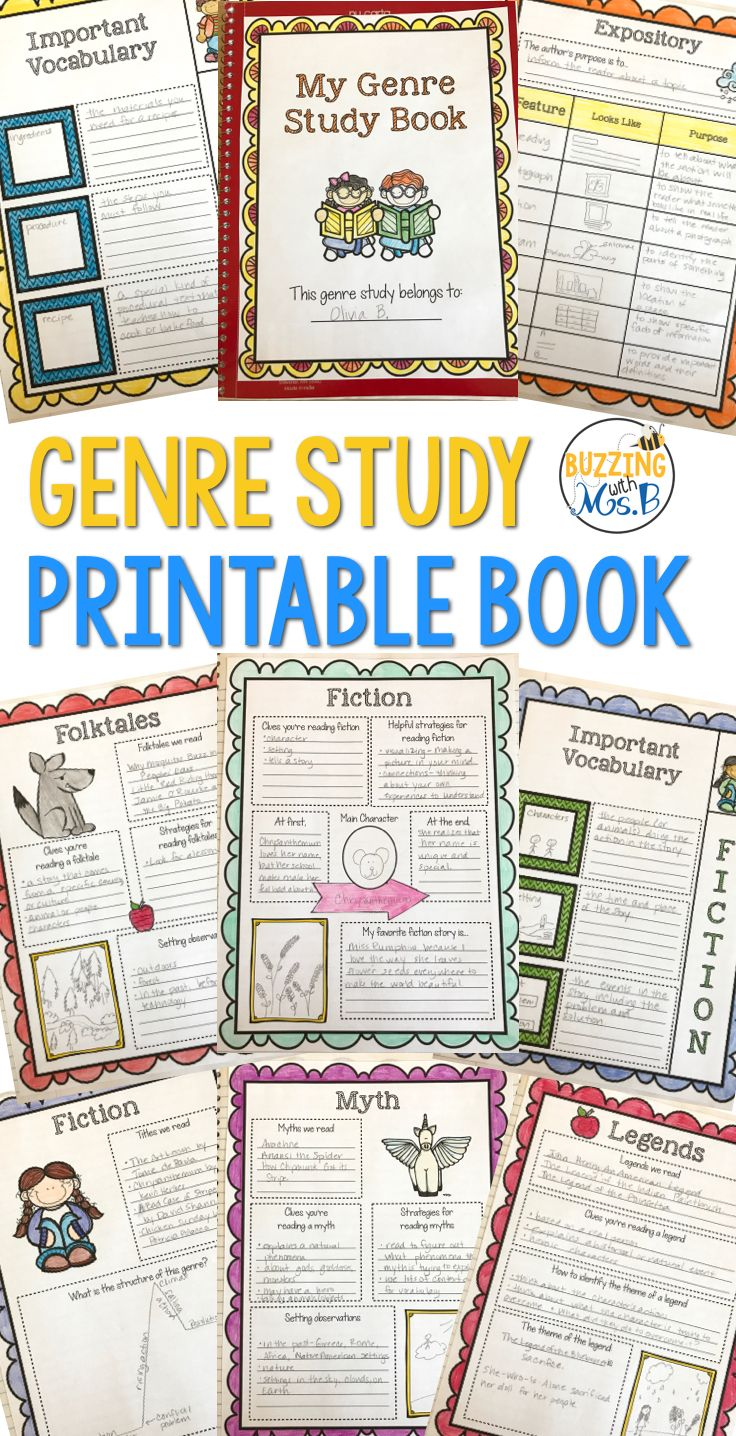 Genre Study Graphic Organizers And Vocabulary Genre Study Teaching Nonfiction Text Teaching Genre