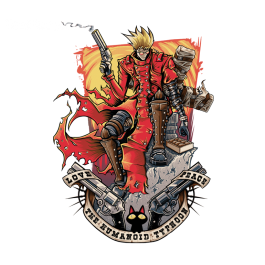 TeeFury has an awesome shirt today (11-29-2014). Not sure I ever expected to see a Trigun shirt on there.