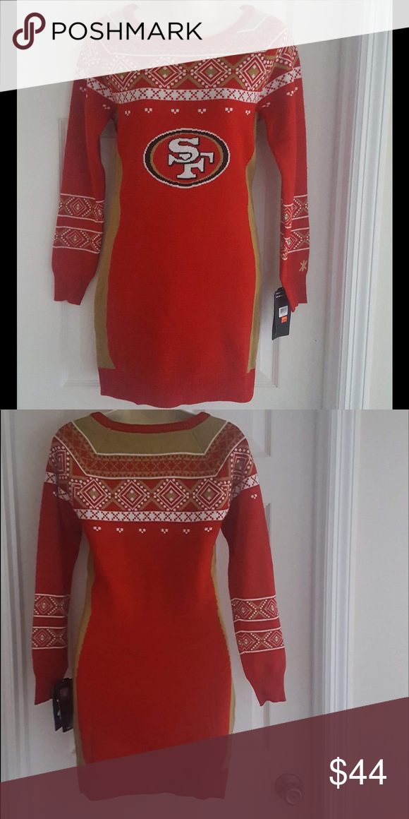 San Francisco 49ers Ugly Christmas Sweater Dress Cute Sweater Dress