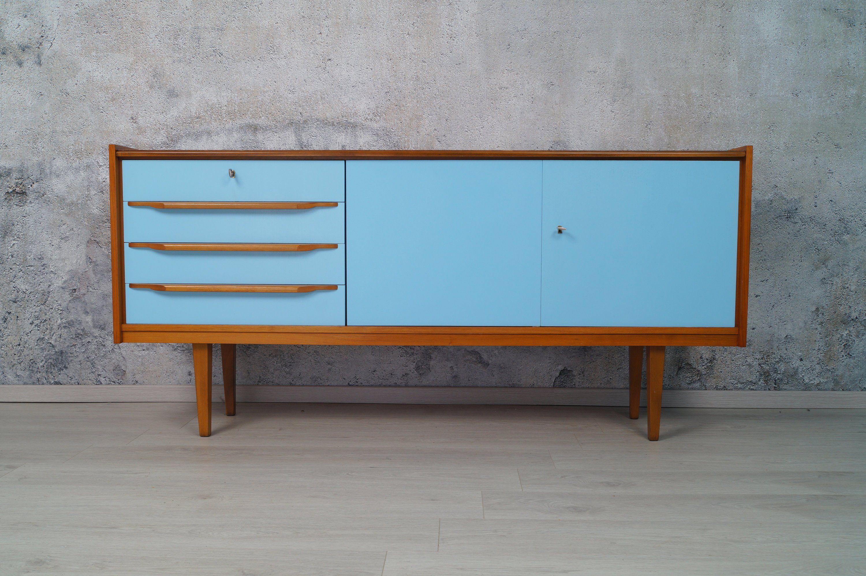 Sideboard 60er Teak Bunt 170cm Kommode Vintage Mid Century Modern