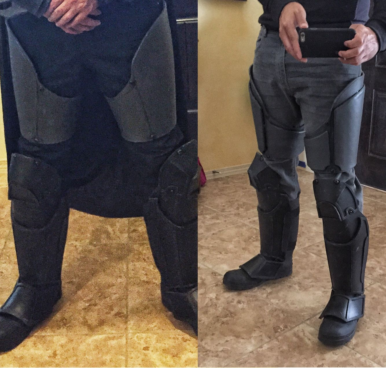 Added Some Much Needed Bulk Too The Leg Armor Here Is A