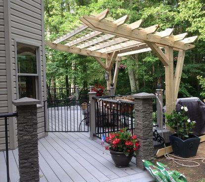 Cantilevered Pergola -- DIY Designed and Built   Outdoor ...