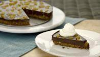 Get Chocolate-Pistachio Fudge Tart Recipe from Food Network