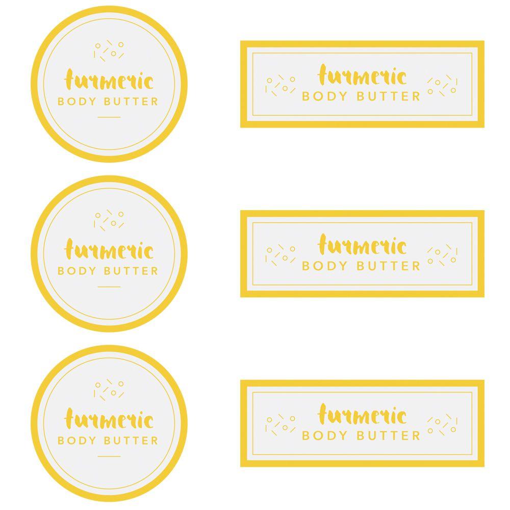 Turmeric Body Butter Digital Template Body Butter Body Butter Labels Body Scrub Labels