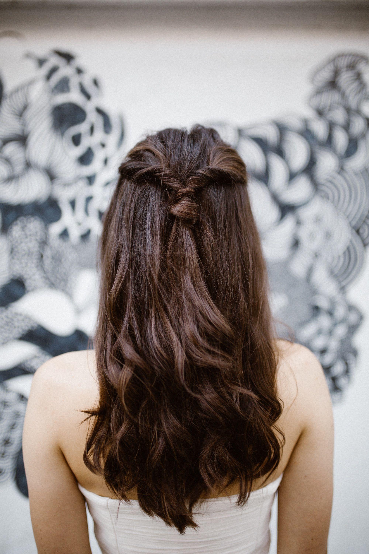 Halb Offene Brautfrisur Halfup Hairstyle Bridalhair