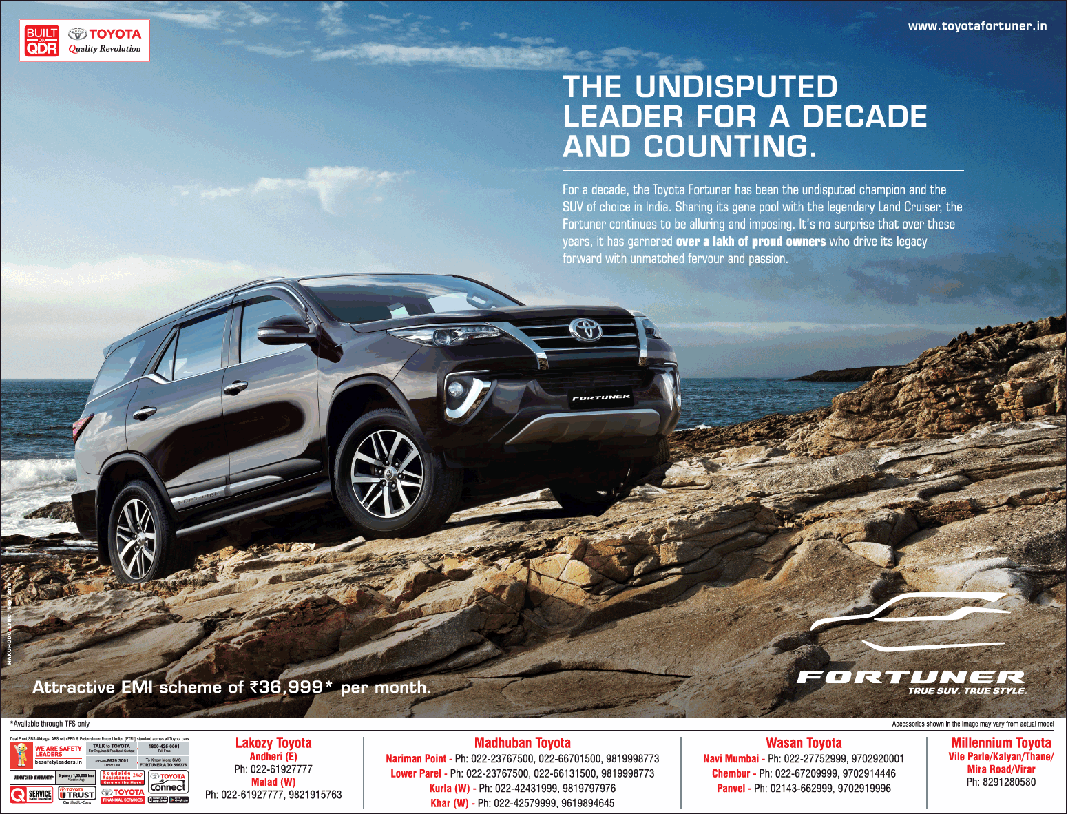 Toyota Fortuner Car The Undisputed Leader Ad Toyota, Car