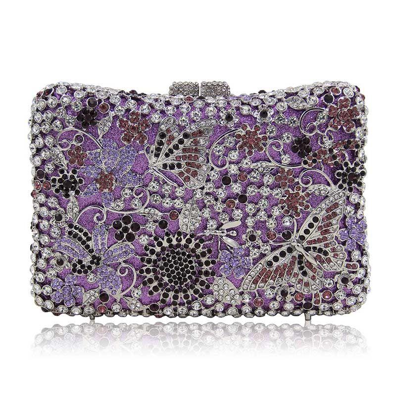 970de554c952 Fashion evening bags rhinestones clutch handbags crystal wedding party bag  colourful purse New product