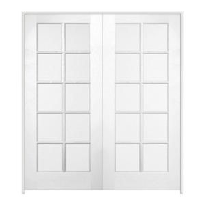 Jeld Wen 48 In X 80 In Smooth 10 Lite Primed Wood Prehung Interior French Door E88180 At The Prehung Interior French Doors French Doors Interior French Doors