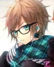Cute Anime Boy Brown Hair Blue Eyes Glasses Anime Glasses Boy Cute Anime Boy Cute Anime Guys
