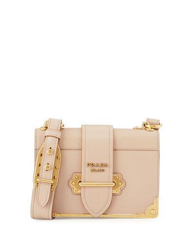 38a6047fe434 PRADA Cahier Leather Shoulder Bag, Pink/Black. #prada #bags #shoulder bags  #leather #lining #