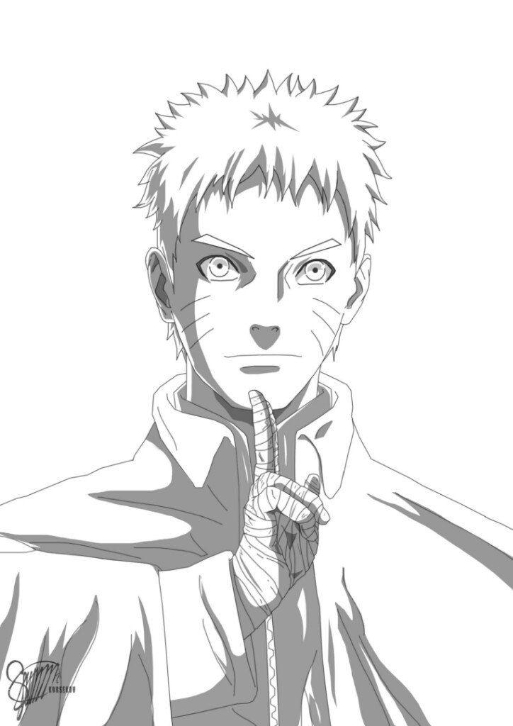 Naruto 2 By Lightning Stroke Naruto Desenho Anime Nanadaime Hokage