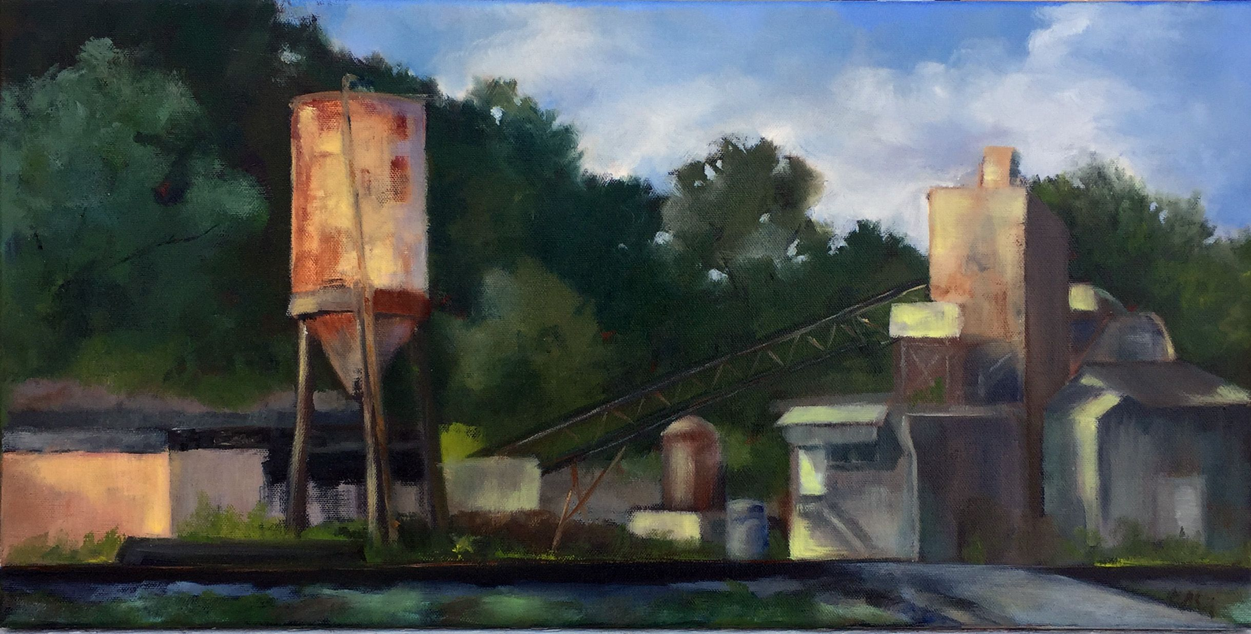 the cement plant painted during the golden hills plein air paint
