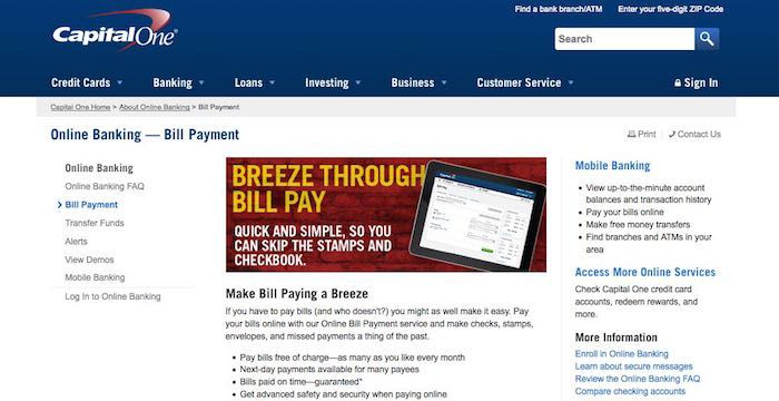 capital one credit card pay bill online почта банк томск онлайн