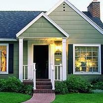 green exterior house paintLove the look with a black door Could a black door work with a