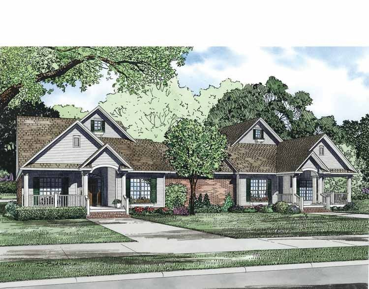 Traditional House Plan with 4452 Square Feet and 6 Bedrooms from Dream Home Source | House Plan Code DHSW69534