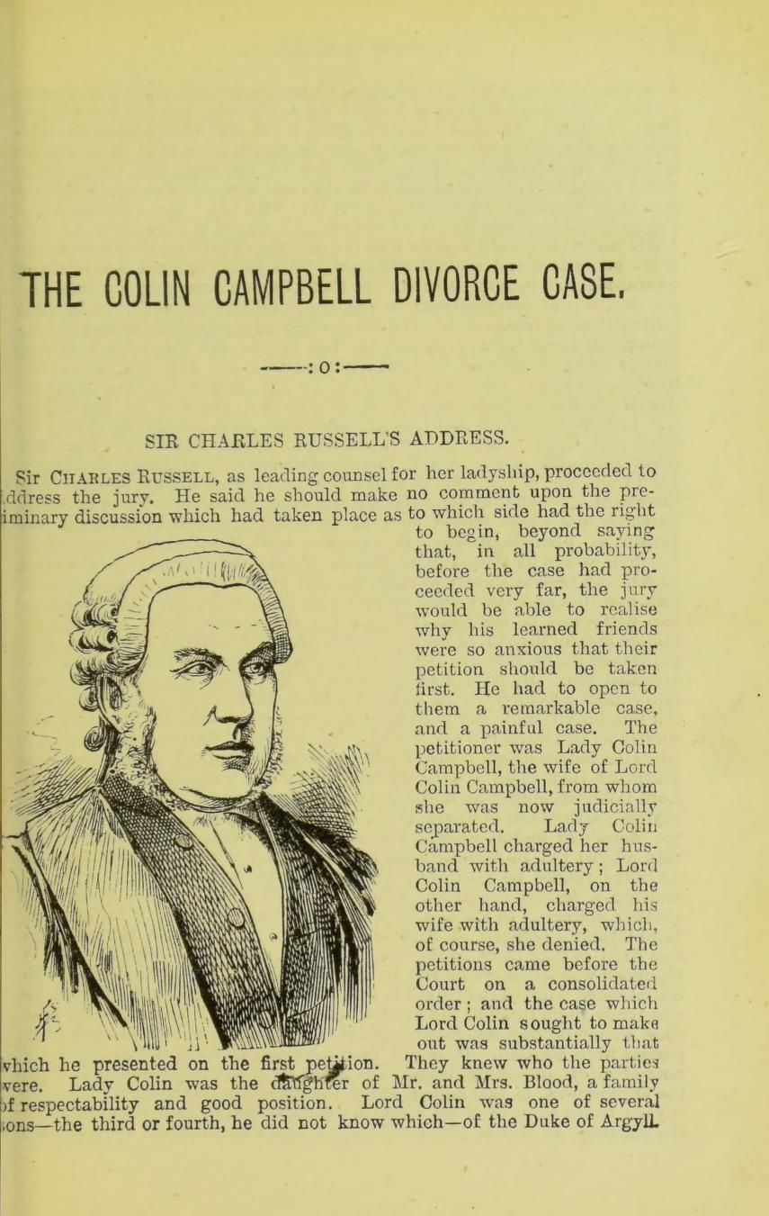 The Campbell divorce case copious report of the trial