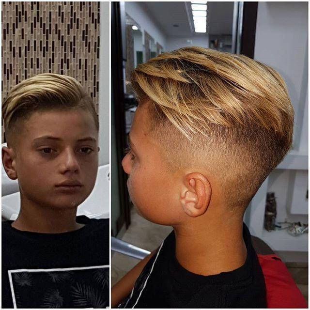 Jungen haarschnitt undercut
