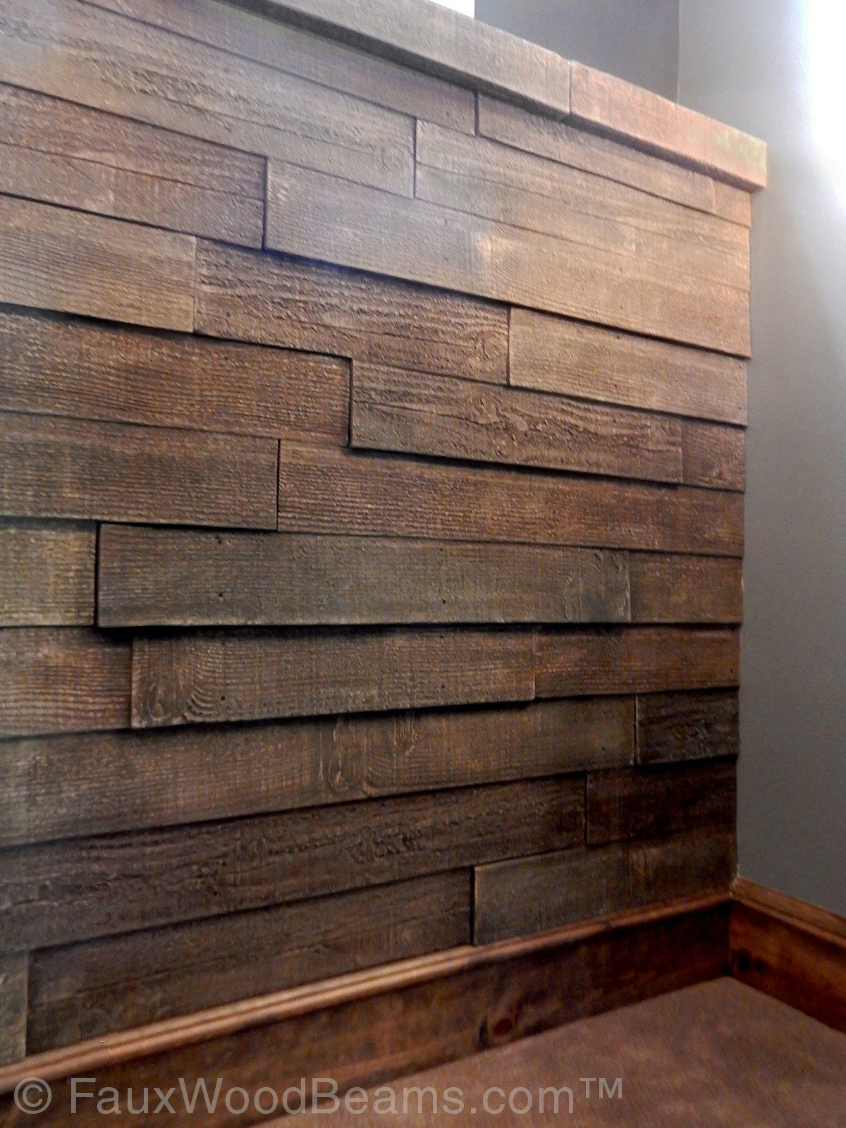 Not Your Grandma's Wood Paneling Faux panels, Barn wood