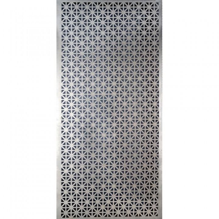 Perforated Aluminum Sheet 12 X 24 X 0 02 Cloverleaf Pattern Metal Sheet Aluminum Metal Decorative Metal Screen