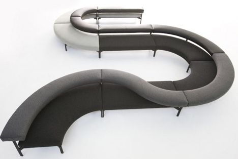 Cool Curved Couch Black couches, Curved couch and Round couch - contemporary curved sofa