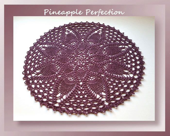 Pattern Review - Pineapple Perfection   Doilys   Pinterest