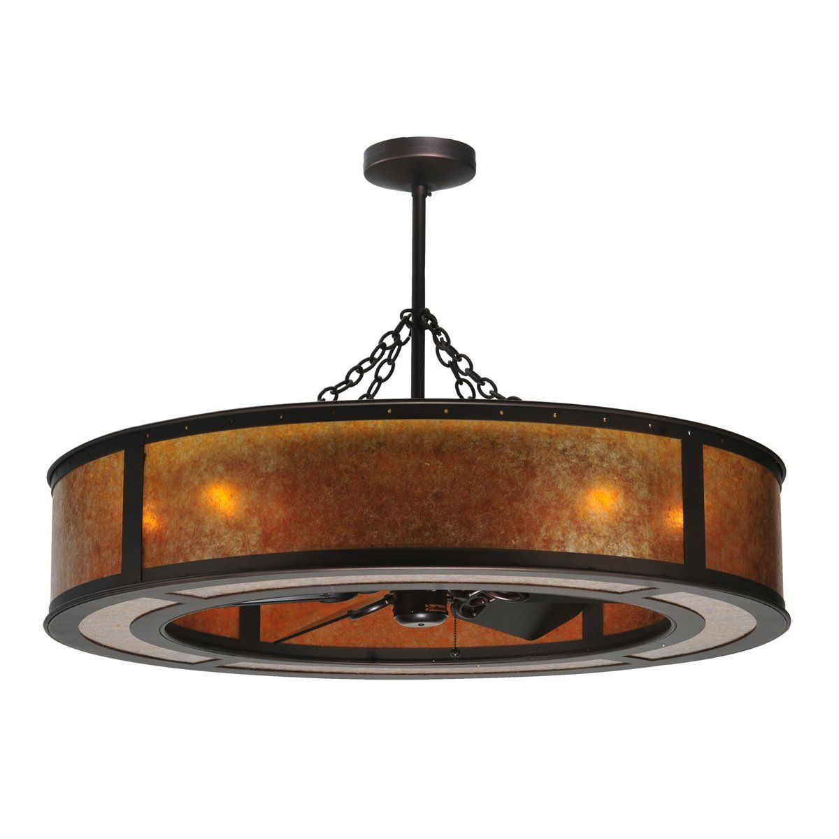Meyda Tiffany Custom 108445 8 Light 44in Smythe Craftsman
