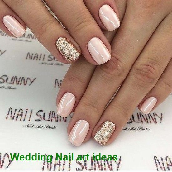 35 Simple Ideas For Wedding Nails Design 1 In 2020 Blush Pink Nails Light Pink Nails Bridal Nails