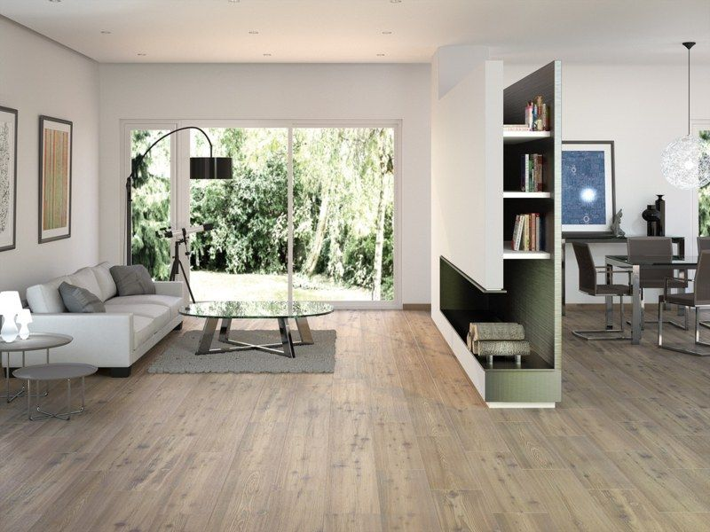 Fliesen In Holzoptik Sorgen Fur Eine Warme Atmosphare Fliesen Wohnzimmer Bodenfliesen Holzoptik Wohnen
