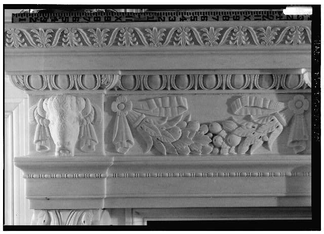 State Dining Room Fireplace Mantel Detail