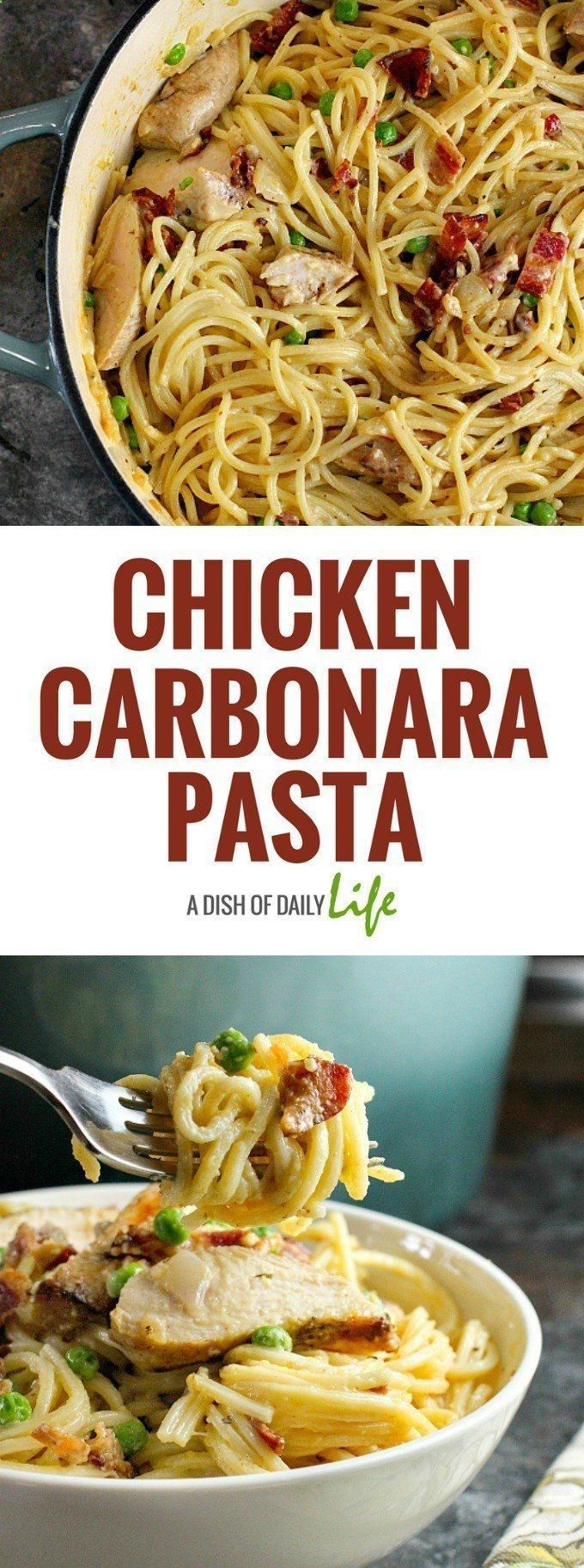 Chicken carbonara pastais is an easy comfort food recipe that chicken carbonara pastais is an easy comfort food recipe that is sure to be a hit with the whole family you can use leftover grilled chicken forumfinder Images
