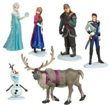 Film Frozen Il regno di ghiaccio Cifre giocattoli 6pcs Cake Toppers
