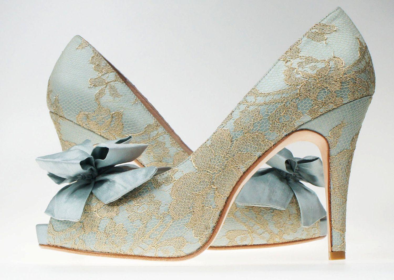 Something Blue Wedding Shoes